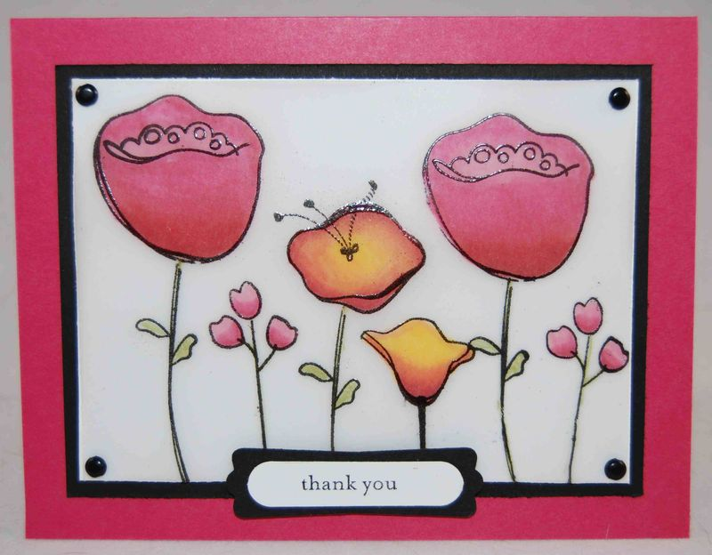Awash with Flowers Faux Stained Glass