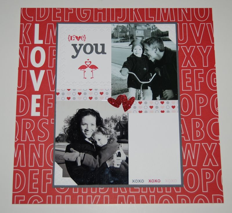 Valentine Defined Scrapbook Page