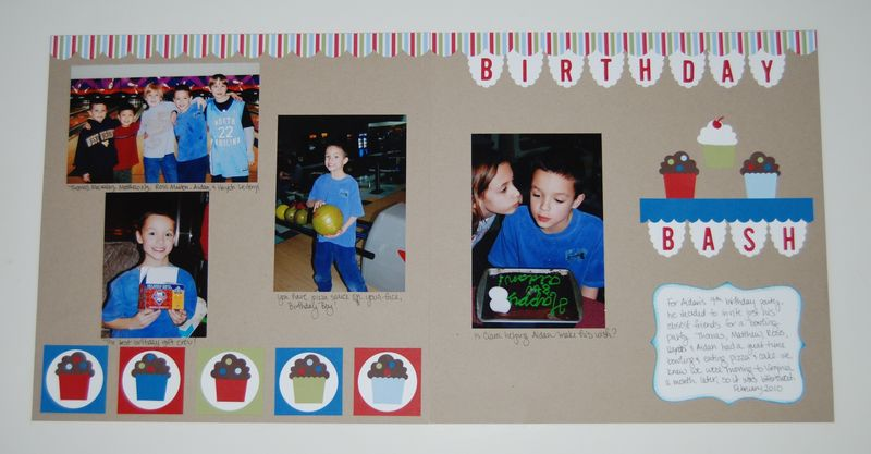 Aidan's 9th Birthday scrapbook page