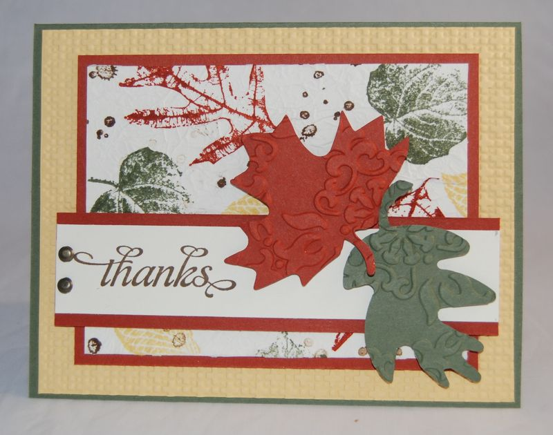 SC349 CC339 French Foliage stamp set