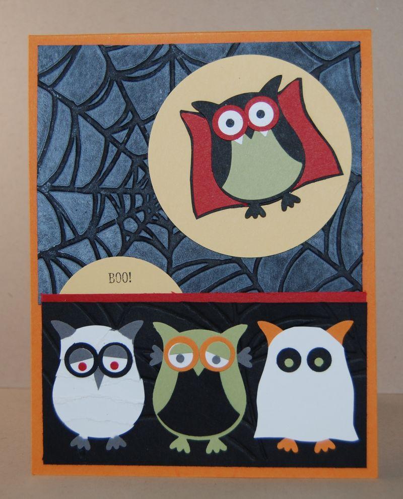 Owl Builder Punch Halloween Card