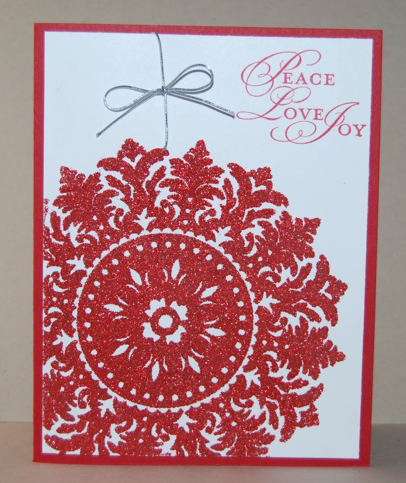Medallion stamp Christmas card