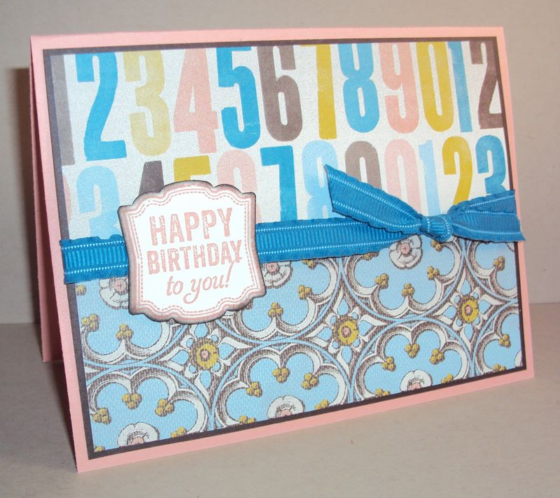 Label Love stamp set feminine card